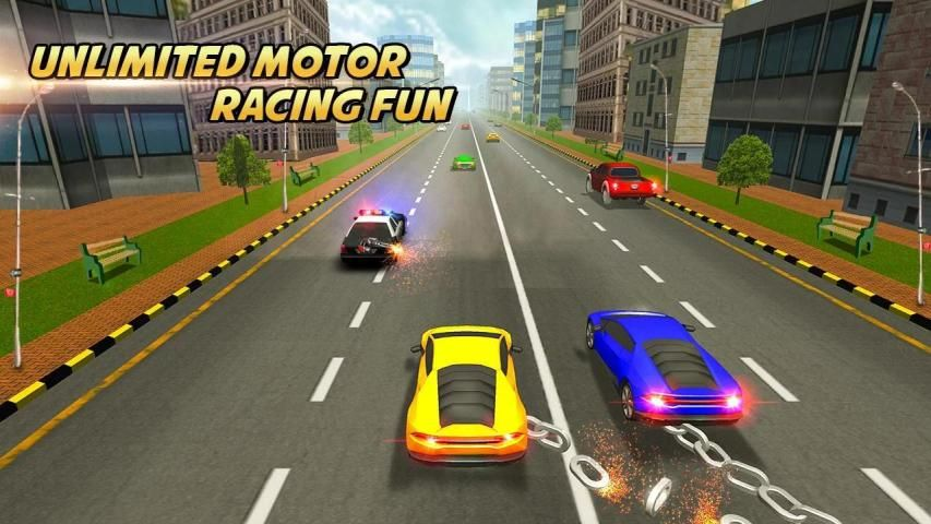 Highway Chained Car Race screenshot 6