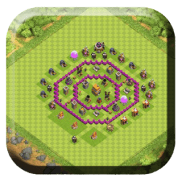 Town Hall 6 Base Layouts icon