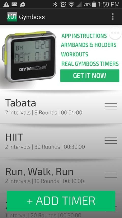 Gymboss Interval Timer screenshot 3