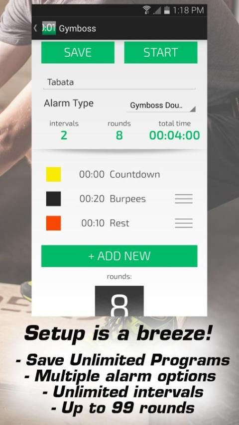 Gymboss Interval Timer screenshot 5
