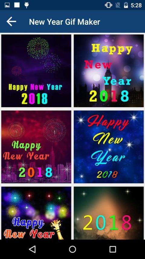 2018 New Year Greetings, Gif's and Photo Frames screenshot 7
