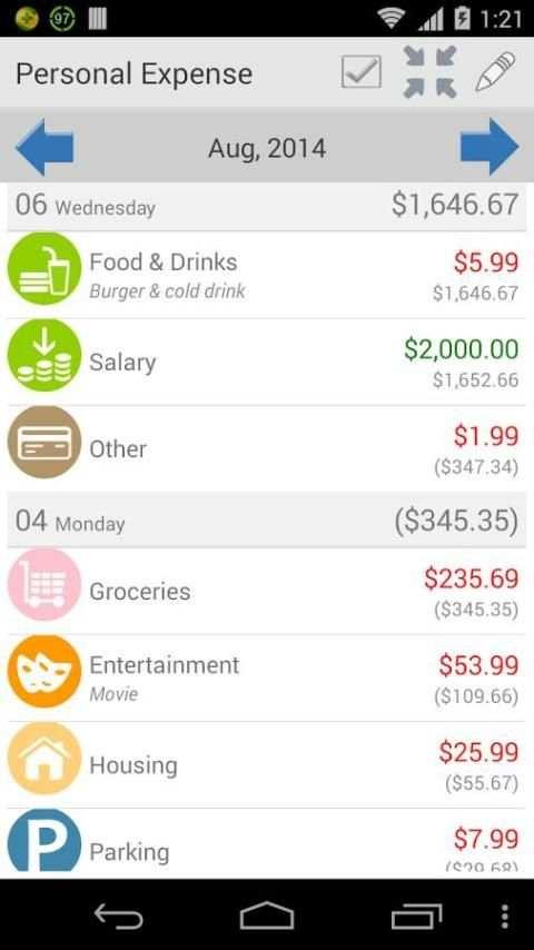 Expense Manager screenshot 4