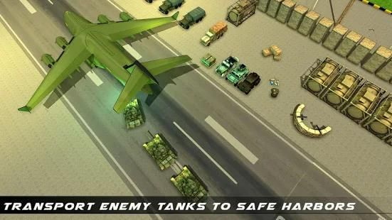 US Army Transport Game - Army Cargo Plane & Tanks screenshot 3