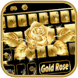 Gold rose Keyboard Theme icon