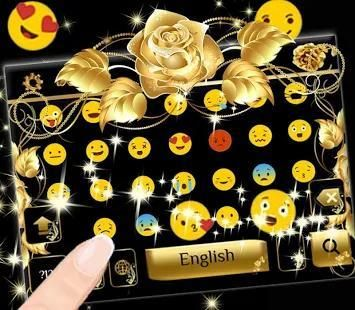 Gold rose Keyboard Theme screenshot 2