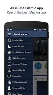 Muslim Athan - Prayer Times & Ramadan 2018 19 تصوير الشاشة