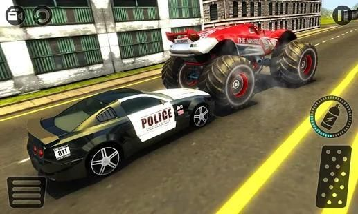 Police Chase Monster Car: City Cop Driver Escape screenshot 13