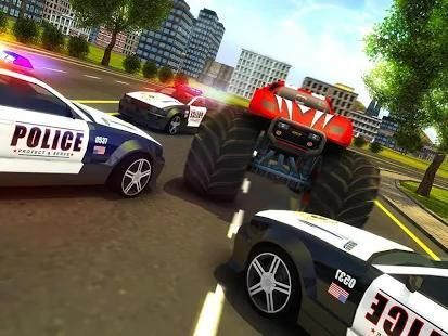 Police Chase Monster Car: City Cop Driver Escape screenshot 3