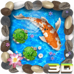 3D Koi Fish Theme and Animated Ripple Effect icon