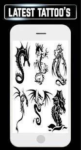 Tattoos Design Tribal Dragon Men girl Small Big 3D 7 تصوير الشاشة