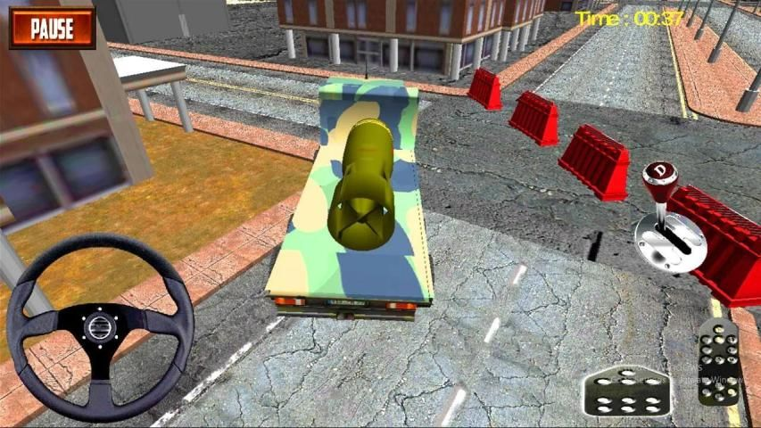 Nuclear Bomb Transporter:Missile Attack Army Truck screenshot 3