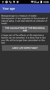 Biological age and life expectancy 1 تصوير الشاشة
