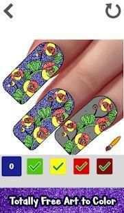Nails Glitter Color by Number-Nail Polish Coloring screenshot 5