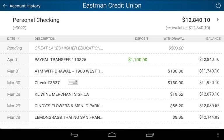 Eastman Credit Union Mobile screenshot 5