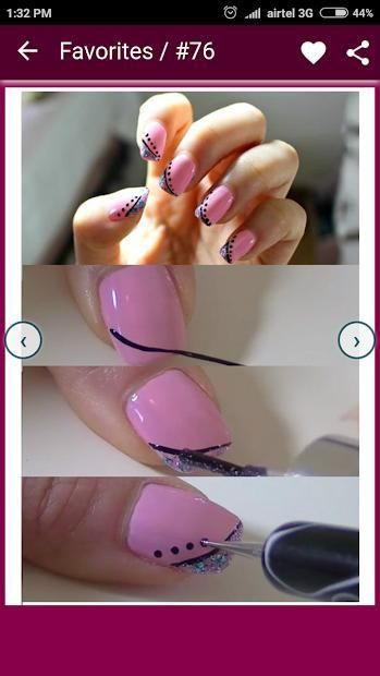 Nail Art Designs Step by Step 4 تصوير الشاشة
