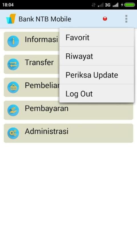Bank NTB Mobile Banking screenshot 1