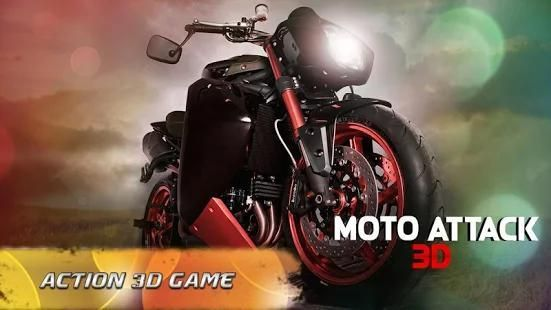 Moto Attack 3D Bike Race 2016 स्क्रीनशॉट 7