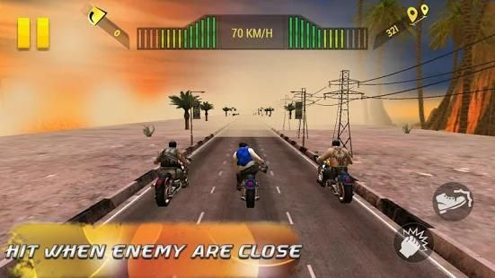 Moto Attack 3D Bike Race 2016 स्क्रीनशॉट 3