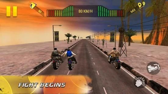 Moto Attack 3D Bike Race 2016 स्क्रीनशॉट 5