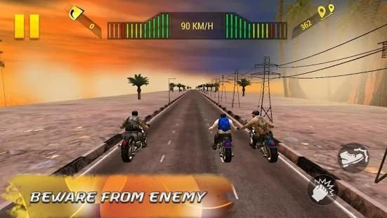 Moto Attack 3D Bike Race 2016 स्क्रीनशॉट 2