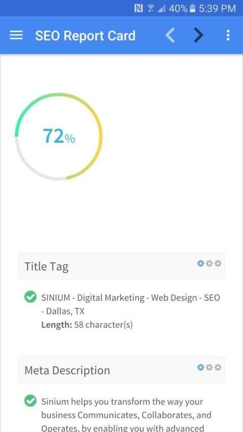 Sinium SEO Tools screenshot 2