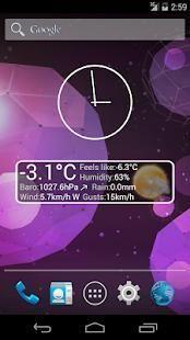 Weather Personal Widget 4 تصوير الشاشة