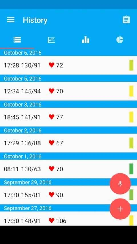 Blood Pressure Diary स्क्रीनशॉट 16