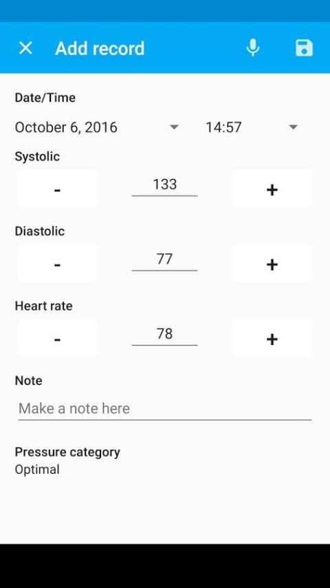 Blood Pressure Diary स्क्रीनशॉट 12