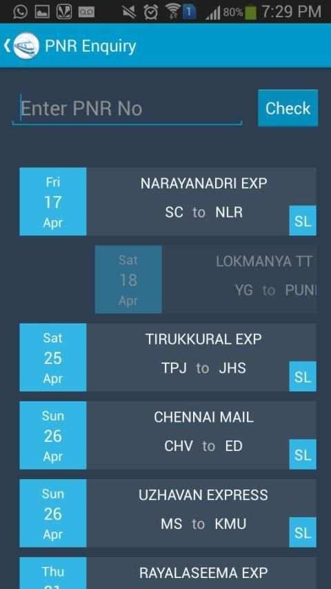 Indian Rail Train Status screenshot 4