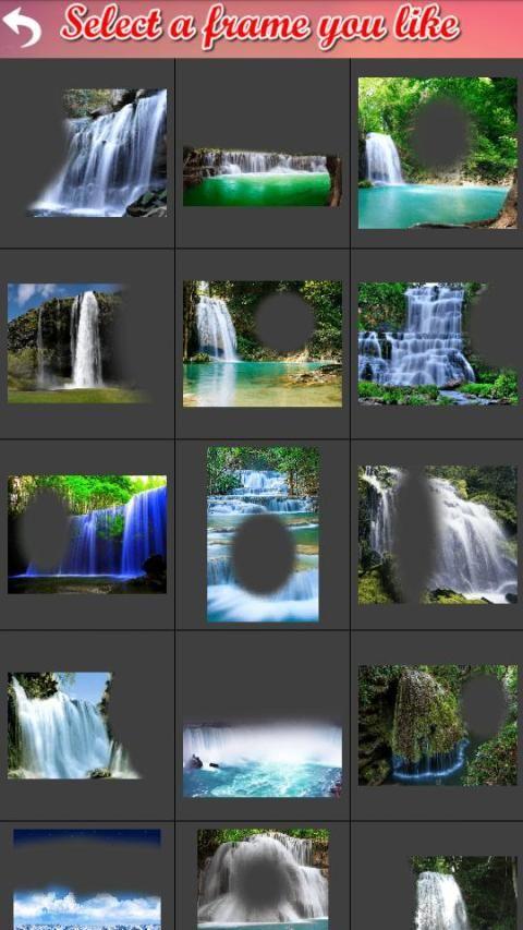 Waterfall Frame Collage 7 تصوير الشاشة