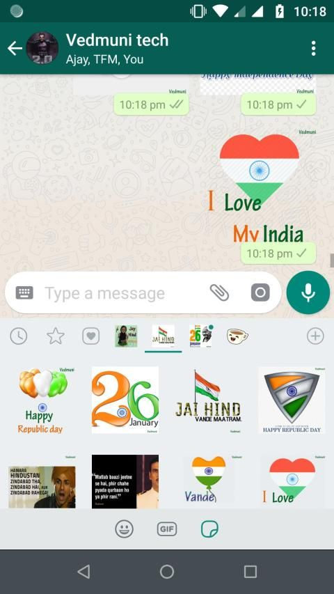 Republic Day Stickers for Whatsapp (WAStickerApps) screenshot 2