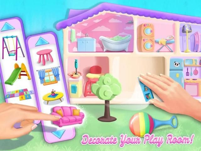 Sweet Baby Girl Doll House - Play, Care & Bed Time स्क्रीनशॉट 8