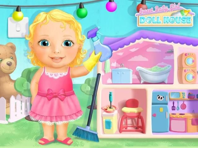 Sweet Baby Girl Doll House - Play, Care & Bed Time स्क्रीनशॉट 2