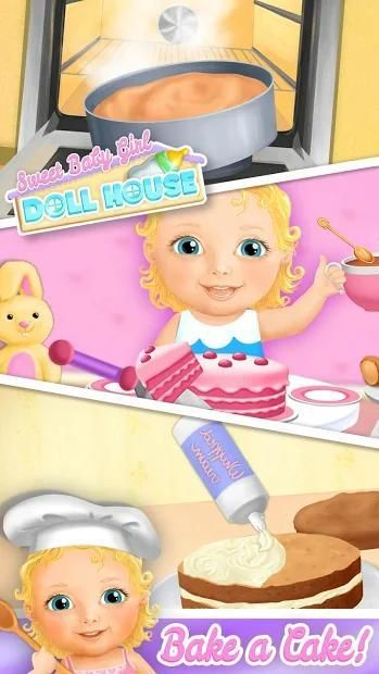 Sweet Baby Girl Doll House - Play, Care & Bed Time स्क्रीनशॉट 20