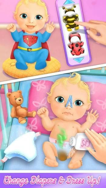 Sweet Baby Girl Doll House - Play, Care & Bed Time स्क्रीनशॉट 21