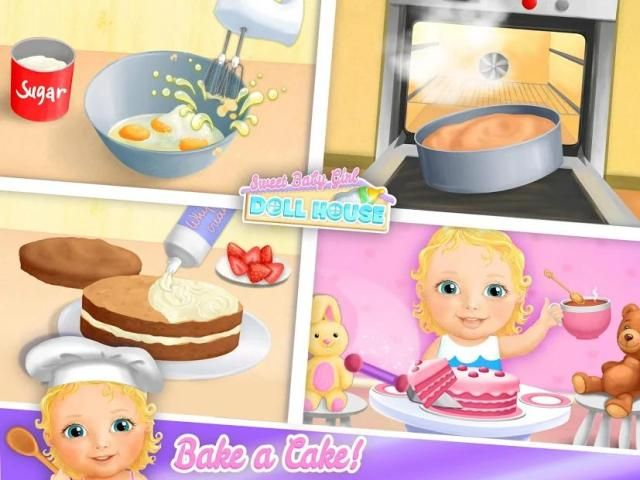 Sweet Baby Girl Doll House - Play, Care & Bed Time स्क्रीनशॉट 3
