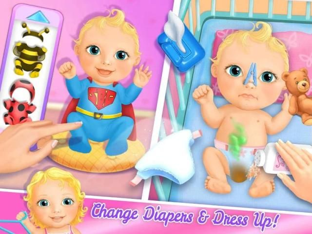 Sweet Baby Girl Doll House - Play, Care & Bed Time स्क्रीनशॉट 5