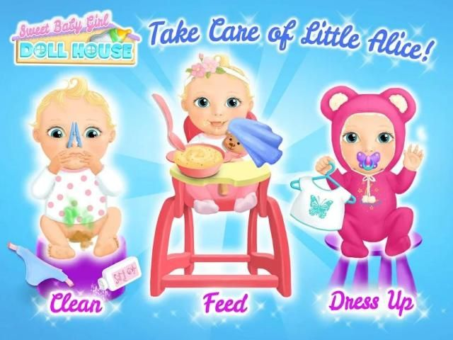 Sweet Baby Girl Doll House - Play, Care & Bed Time स्क्रीनशॉट 14