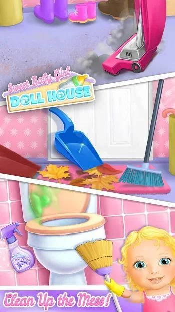 Sweet Baby Girl Doll House - Play, Care & Bed Time स्क्रीनशॉट 32