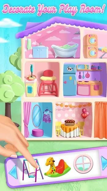 Sweet Baby Girl Doll House - Play, Care & Bed Time स्क्रीनशॉट 24