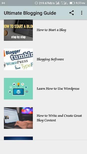 Blogging Guide screenshot 2