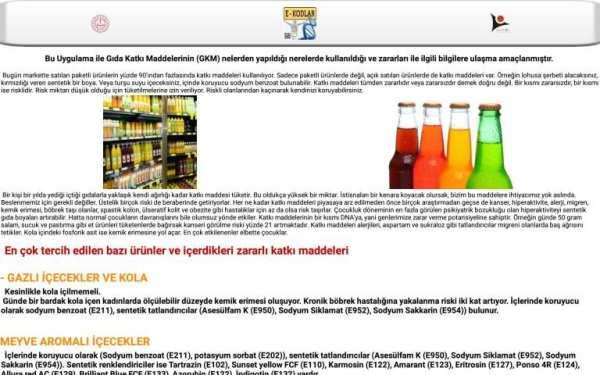 Gıda Katkı Maddeleri E Kodlar screenshot 12