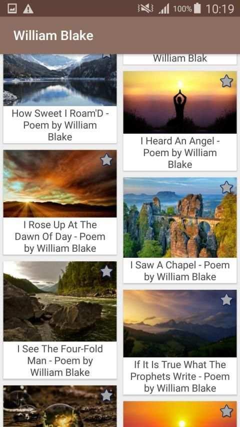 William Blake Poems screenshot 13