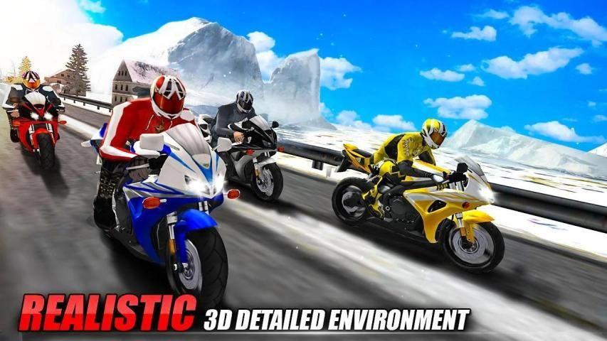 Bike Attack Race : Highway Tricky Stunt Rider स्क्रीनशॉट 2