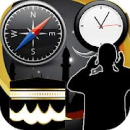 Azan Time and Qibla أوقات الصلاة 