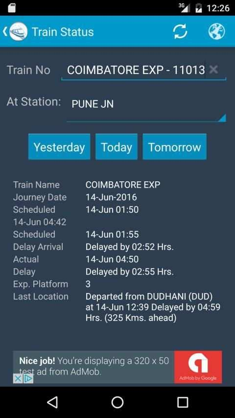 Indian Rail Train Status screenshot 8