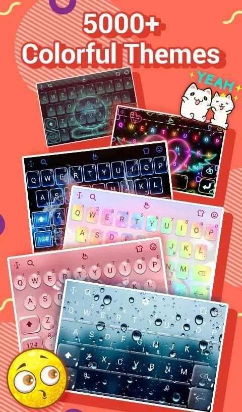 TouchPal Emoji Keyboard: AvatarMoji, 3DTheme, GIFs screenshot 3