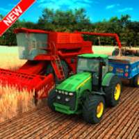 Village Tractor Farming: GBT New Farming Games 3D icon