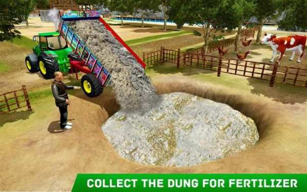 Village Tractor Farming: GBT New Farming Games 3D screenshot 1