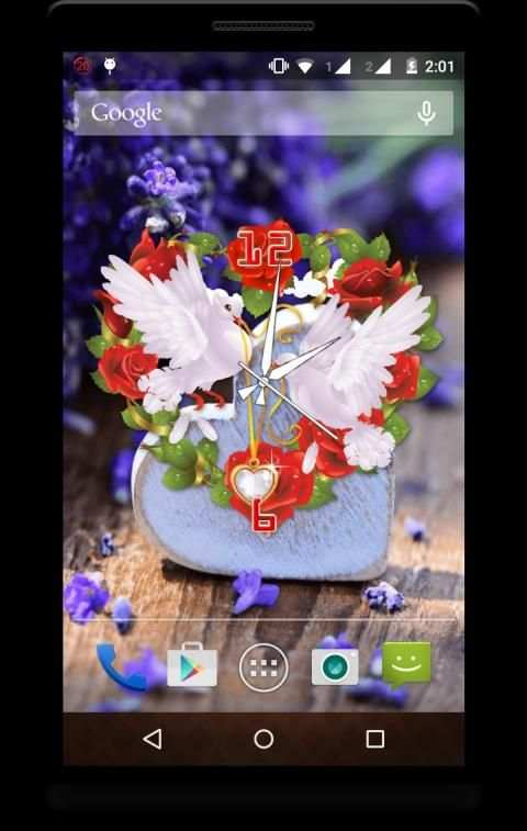 Heart Clock Live Wallpaper screenshot 5